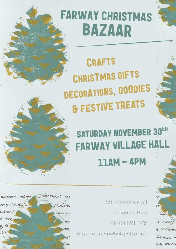 Farway Christmas Bazaar Poster