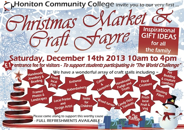 Honiton Community College Christmas Fayre
